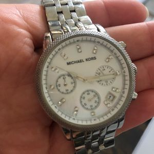 Michael Korn Mother of Pearl Watch